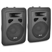 Skytec Pack sono enceintes actives DJ PA subwoofer 20cm 2x 200W max.