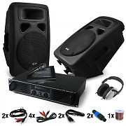 "Set DJ PA ""Bass Blast Force"" PA – Colunas e Amplificador 1000W"