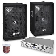 """Rookie"" set DJ amplificatore 2 casse 800W"