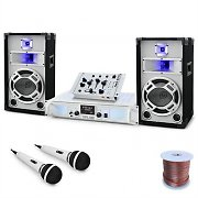 "Set DJ ""Polar Fox"" mixer amplificatore e casse 1500W"