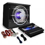 "auna Car Hifi Set ""Black Line 100"" Subwoofer Eindtrap 1400 W"