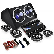 """Black Line 520"" 4.1 Car Hifi Set  amplificador colunas Sub"