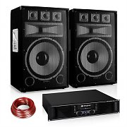 "PA Set Saphir Series ""Warm Up Party"" 15PLUS Paar 15"" Boxen & Verstärker 1200W"