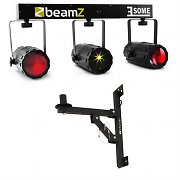 Beamz 3 Some Clear LED-lichteffect-set 5-dlg met muurbevestiging