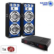 "Conjunto PA Blue Star serie ""Beatbass Bluetooth MP3"" 1500W"