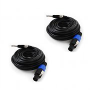 FrontStage - 2X Cable PA a Jack 6,35 mm 10 m