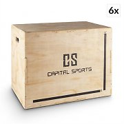 "Capital Sports Shineater BL set Plyo-Box Jump Box 3 höjder höjder 20"" 24"" 30"" trä"