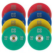CAPITAL SPORTS Performan full set viktskivor 4 par 10 - 25kg