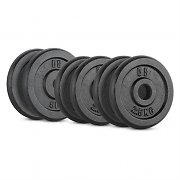 CAPITAL SPORTS IPB 20kg Set Piastre Peso 4 x 2,5 kg + 2 x 5 kg 30mm