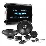 auna CS-Comp-12 Car-HiFi-Set | Sistema de Altifalantes | Amplificador 6 canais