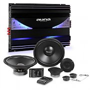 auna CS-Comp-12 Car-HiFi-Set | Altifalantes | Amplificador de 6 Canais 570W RMS