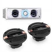 auna MD-170-BT Set hi-Fi Car Autoradio + Altoparlanti 4 Vie MP3 USB SD BT