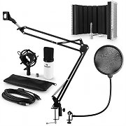 auna MIC-900WH USB microfoonset V5 condensator popfilter microfoonscherm arm wit