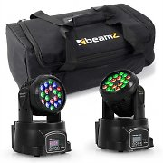 beamZ valoefektisetti kuljetuslaukku 2x LED-108 moving head & 1 x soft case