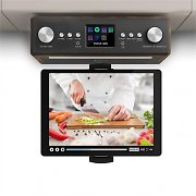"auna Connect Soundchef Radio Sottopensile Da Cucina con Supporto per Tablet DAB+ VHF Casse 2x3"" Noce"